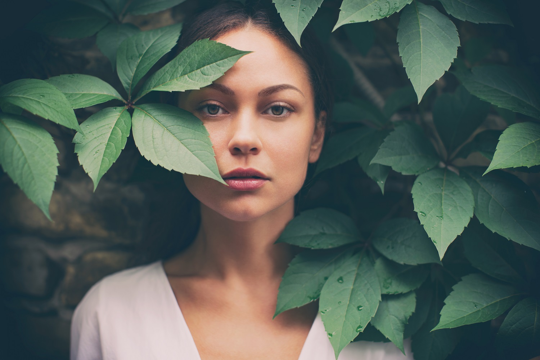 Portrait of beautiful woman without make-up